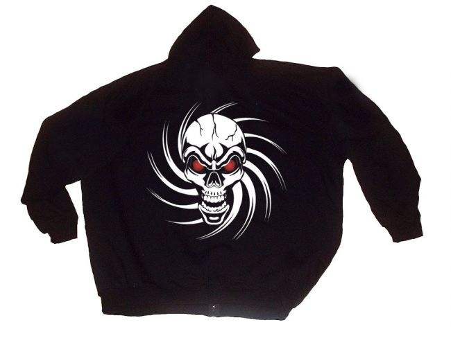 "Hooded Sweat Jacket ""Skull"""
